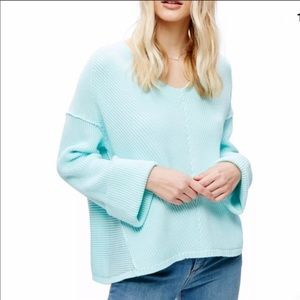 FREE PEOPLE Mint Green Cotton Chunky Sweater small